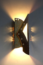 Gray Sconce by Dale Jenssen (Metal Sconce)