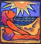 Sun Goddess: Footprint by Dana Trattner (Giclée Print)
