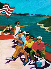 On Casco Bay: Pointing by Dana Trattner (Giclee Print)