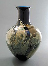 Paradise Blue by Suzanne Guttman (Art Glass Vase)