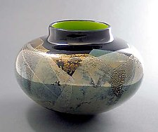 Chartreuse Kago by Suzanne Guttman (Art Glass Bowl)