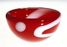 Red Bubble Bowl by Cristy Aloysi and Scott Graham (Art Glass Bowl)