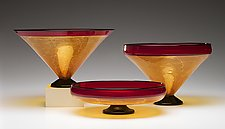 Autumn Primavera Bowls by Kenny Pieper (Art Glass Bowls)