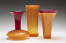 Autumn Primavera Vases by Kenny Pieper (Art Glass Vases)