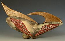 Eagle Dance by Jan Jacque (Ceramic & Wood Sculpture)