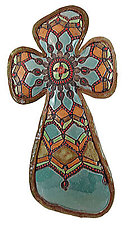 Sophia's Cross by Laurie Pollpeter Eskenazi (Ceramic Wall Sculpture)