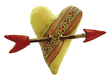 Little Red Flowers by Laurie Pollpeter Eskenazi (Ceramic Wall Sculpture)