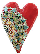Julia's Heart by Laurie Pollpeter Eskenazi (Ceramic Wall Sculpture)