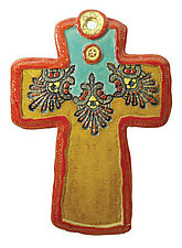 Peter's Wings by Laurie Pollpeter Eskenazi (Ceramic Wall Sculpture)