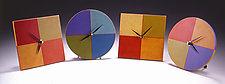 Square & Round Clocks by Emi Ozawa (Wooden Clocks)