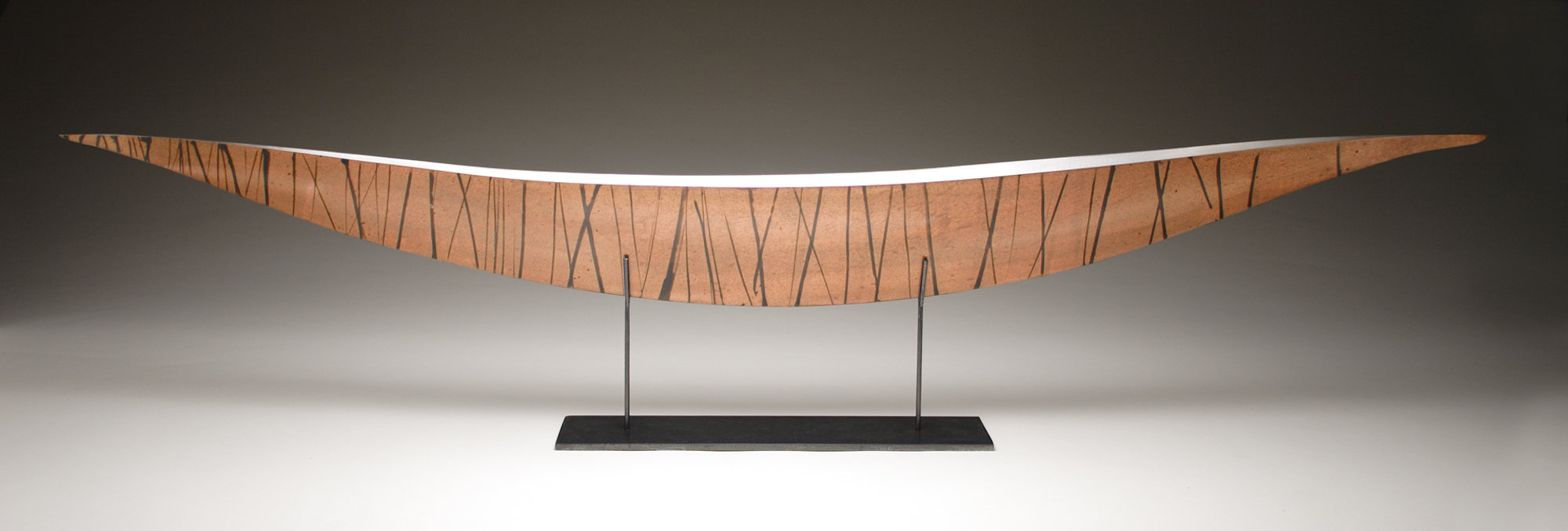 Copper Boat With Black Stripes By Ken Girardini And Julie