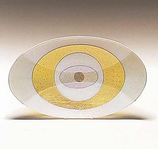 Spyware - Large Oval by Kathleen Ash (Art Glass Platter)