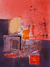 Red Arrangement No.2 by Sandra Humphries (Monotype Print)