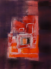 Red Arrangement No.4 by Sandra Humphries (Monotype Print)