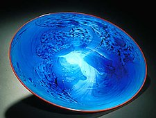 Blue New Mexico Platter by Josh Simpson (Art Glass Platter)