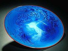 Blue New Mexico Platter by Josh Simpson (Art Glass Platter)