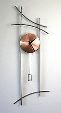 Asian Wall Clock by Ken Girardini and Julie Girardini (Metal Clock)