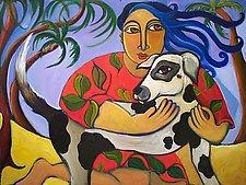 The Doggie Whisperer by Katharina Magdalena Short (Giclee Print)