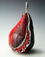 Hot Chili Pear by Aleksandra Vali (Sculptural Brooch)