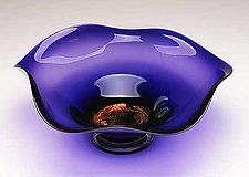 Dichroic Amethyst Bowl by Janet Nicholson and Rick Nicholson (Art Glass Bowl)