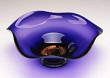Dichroic Amethyst Bowl by Janet Nicholson and Rick Nicholson (Art Glass Bowl)