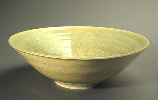 """Celadon & White Fruit Bowl"""