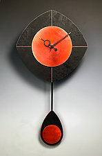 Black & Copper L-Drop Pendulum Clock by Leonie  Lacouette (Wood Clock)