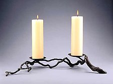 Two-Candle Candleholder by Carol Green (Bronze Candleholder)