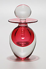 Egg Perfume Bottle: Strawberry by Michael Trimpol and Monique LaJeunesse (Art Glass Perfume Bottle)