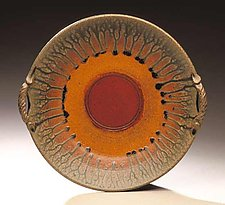 Platter With Two Handles by Mike Walsh (Ceramic Platter)