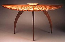 Sunburst Table by Seth Rolland (Wood Hall Table)