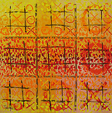 Tic Tac Three by Lynne Taetzsch (Acrylic Painting)