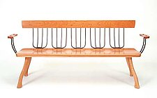 Pitchfork Bench by Brad Smith (Wood Bench)