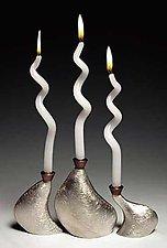 Tri-Meta by Lisa Slovis (Pewter & Bronze Candleholders)