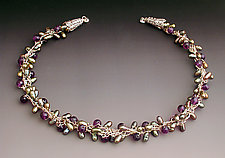 Crescendo Amethyst by Sharmen Liao (Silver, Amethyst & Pearl Necklace)