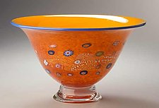 Daffodil Blossom Bowl by Ken Hanson and Ingrid Hanson (Art Glass Bowl)
