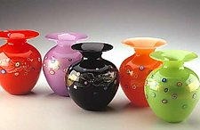 Blossom Vase by Ken Hanson and Ingrid Hanson (Art Glass Vase)