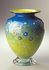 Meadow Blossom Vase by Ken Hanson and Ingrid Hanson (Art Glass Vase)