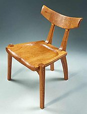Taos Side Chair by Richard Laufer (Wood Chair)