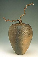 Vessel with Contorted Filbert by Carol Green (Ceramic Vessel)