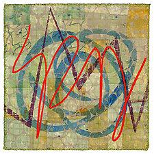 Scribble #1 by Catherine Kleeman (Fiber Wall Art)