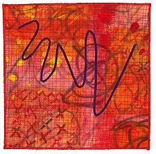 Scribble #5 by Catherine Kleeman (Fiber Wall Art)