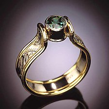 Arch Ring by Louise Norrell (Gold & Stone Ring)