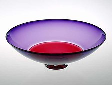 Ruby & Hyacinth Incalmo Bowl by Nicholas Kekic (Art Glass Bowl)
