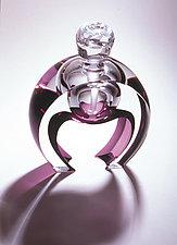 Horseshoe Perfume by Mary Ellen Buxton and Kevin Kutch (Art Glass Perfume Bottle)