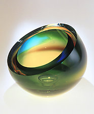 Mirage Bowl by Mary Ellen Buxton and Kevin Kutch (Art Glass Vessel)