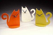 Cat Clock by Emi Ozawa (Wooden Clock)