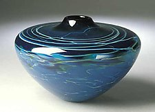 Blue Cloud Vase No.3 by Mike Wallace (Art Glass Vase)
