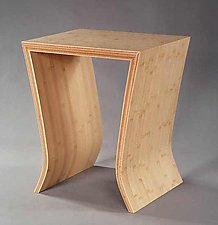 Bamboo Side Table by David N. Ebner (Bamboo Side Table)