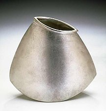 Triangle Rocking Vase by Lisa Slovis (Pewter Vase)